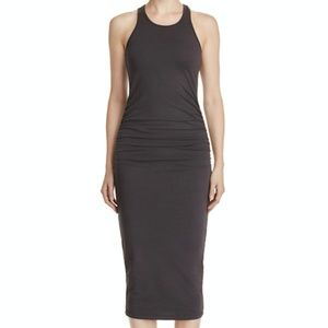 Michael Stars Gray Racerback Midi Tank Dress